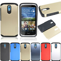 Slim Hybrid Shockproof Case Protective Hard Rubber Cover For HTC Desire 526G