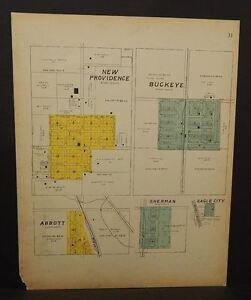 Iowa Hardin County Map New Providence Buckeye Abbott 1916   L10#40