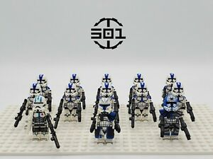 Star Wars 501st Squadron Captain Rex Jesse Echo Set 13 Minifigures Lot USA SELL