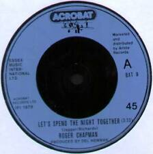"""ROGER CHAPMAN~LET'S SPEND THE NIGHT TOGETHER / SHAPE OF THINGS~1979 UK 7"""" SINGLE"""