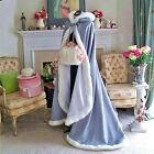 2020 HOT Bridal Winter Wedding Cloak Cape Hooded with Fur Trim Long Bridal