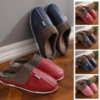 Home Unisex Slippers Cozy Flats Shoes Plus Size Clogs Fuzzy Men Couples