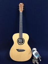 4/4 GW OM Steel String Acoustic Guitar,Natural Gloss+ Free Bag,Strings-Full Kit!