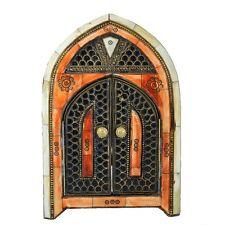 Orientalischer Marokkanischer Spiegel Orient Messing Wandspiegel S14 H28 cm
