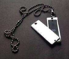 Acciaio Inossidabile Degli Uomini 2G USB DOG Tag ciondolo * 20 pollici Collana Argentata * Nuovo di Zecca