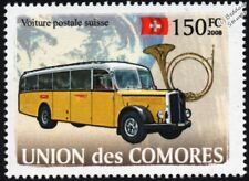 SAURER L4C Postbus (Swiss Post) Postal Bus Vehicle Stamp
