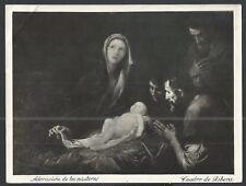 antique sheet of foto de la Sagrada Familia santino image pieuse prints