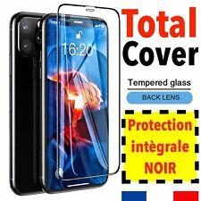 Verre Trempé intégral total Film Écran Noir iPhone 6 7 8 Plus X XR XS 11 12 Pro