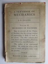 Acceptable - A Textbook Of Mechanics, Volume Ii: Mechanics Of Machines - Jagger,