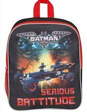 "KIDS ""LEGO BATMAN"" MOVIE BOYS BLACK BACKPACK/SCHOOL/ TRAVEL ""SERIOUS BATTITUDE"""