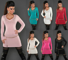 Damen-Pullover mit U-Ausschnitt in Langgröße