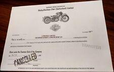 UK British 1993 Harley Davidson 50 Shares Baker Street Sherlock Holmes Bond VFC