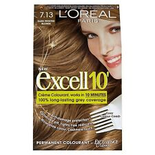 6x L'Oreal Paris Excell 10 Hair Colourant Dark Frosted Blonde 7.13