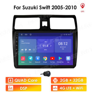 Android 10 GPS Navigation Radio Stereo Car For Suzuki Swift 2005-2010 DSP 4GLTE