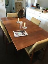 Danish Extension Dining Table And Four Matching Upholstered Chairs