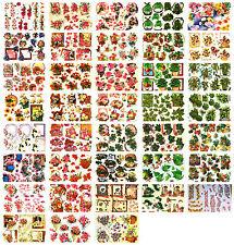 Bumper bargain decoupage kit, scissors needed, 38 sheets, cardmaking, floral