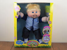 "Cabbage Patch Kids 14"" Boy Plush Doll Blonde Hair Blue Eyes Baseball *BRAND NEW*"