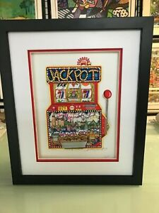 """Charles Fazzino 3D Artwork """" Slots of Fun """" Signed & Numbered Limited Edition DX"""