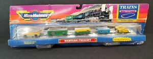 Micro Machines Trains Western Freight 1989 Vintage