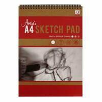 A4 Top Spiral Bound Artist Sketch Book White Cartridge Paper  Art Pad 70gsm