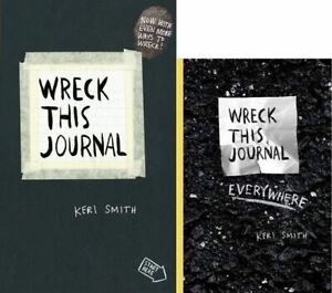 Wreck This Journal & Wreck This Journal Everywhere by Keri Smith (2 Book Set)
