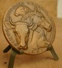 Médaille  signée R B Baron Medal 勋章 Horse ANIMAL MEDAL