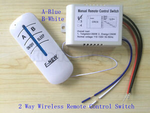 US Standard 110V Wireless Remote Control 2/3 way lamp switch Anti-interference