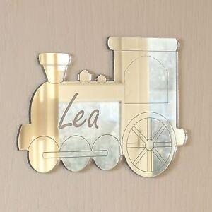 Personalised Train Door Name Plaque Boy or Girls Bedroom Room Sign