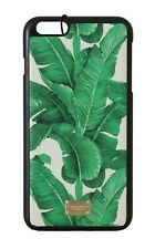 NEW $320 DOLCE & GABBANA Phone Case Green Leather Banana Leaves iPhone6 Plus