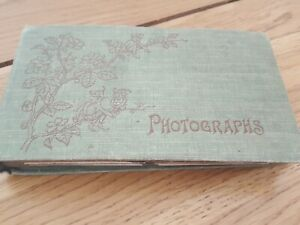 Antique Photo Album, 1910-20s, Antique Mini Photos, WW1 Military, Family Album,