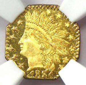 1881 Indian California Gold Quarter 25C Coin BG-799O - Certified NGC MS67 DPL