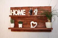 Regal Wandregal Palettenmöbel braun 3 D Effekt Board Küche #16