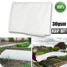 More details for 30gsm garden fleece plant protection white cover frost winter heavy duty 2mx5m