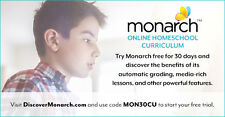 Try 30 day FREE TRIAL of Monarch Homeschool Curriculum for Alpha Omega 3 - 12th