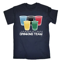 Funny Novelty T-Shirt Mens tee TShirt - Drinking Team Glasses Jamaican Country
