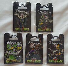 2019 Disneyland Paris Halloween Fab 5 Disney Pin Set of 5 Pins - Us Seller