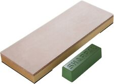 """SharpAL 204n Leather Strop 3"""" X 8"""" Kit With 2 Oz Polishing Compound Angle Guide"""