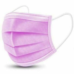 1/10/20/30/50 3 PLY PINK DISPOSABLE FACE MASKS NON-MEDICAL SURGICAL MASK