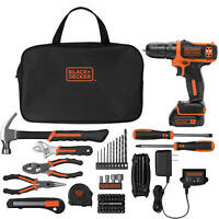 BLACK+DECKER 12-Volt MAX* Lithium-Ion Cordless Drill With 64-Piece Project Kit