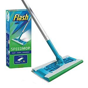 NEW Flash Speedmop Starter Kit, Mop + 12 Absorbing Refill Pads, Fresh
