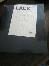 NEW Ikea LACK-BLACK Floating Wall Shelf-11-3/4x10-1/4 Concealed Mounting #16353