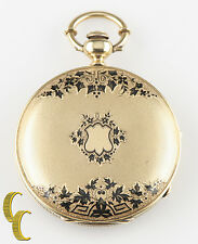 18k Yellow Gold & Enamel Emile Jacob Locke Pocket Watch Size 10 Full Hunter