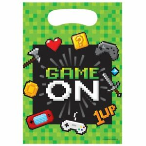 Gaming Video Computer Games Game On Party Supplies Tableware Decorations Balloon