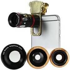 iPhone iPad Android Tablet 4in1 180° Telephoto Wide Angle Macro Camera Lens Kit