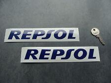 2x stickers Repsol Bleu 18cm auto moto bike decals pegatinas aufkleber A107-537