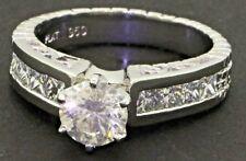 EGL USA Platinum 2.12CT diamond wedding/engagement ring w/ 1.08CT ctr. size 7.25