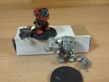 2 INCOMPLETE CLASSIC METAL WARHAMMER ORK MEGA ARMOUR PART PAINTED (115)