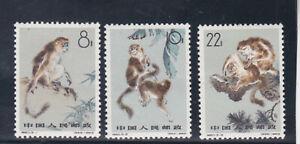 PRC 1963 Sc 713/5 monkey,set MLH   s1052