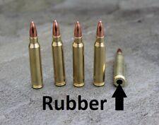 Rubber cushion   Dummy Rounds  223 Remington  snap caps x 5