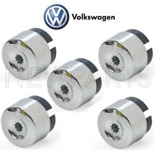 NEW Volkswagen VW Touareg 2004-2017 Set of 5 Wheel Lug Bolt Caps Genuine
